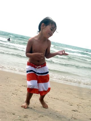 Sandbanks 2011 dancing boy